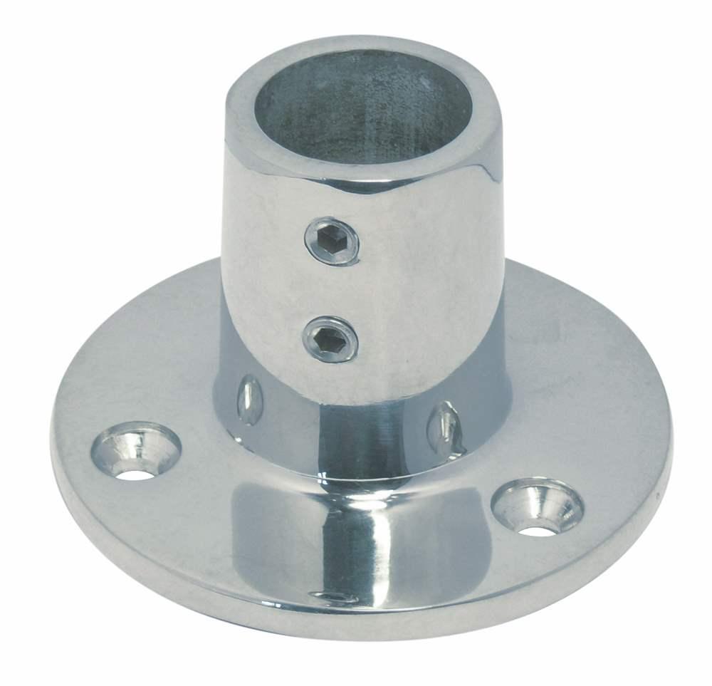 Relingfuß | mit runder Grundplatte | 90° | V4A