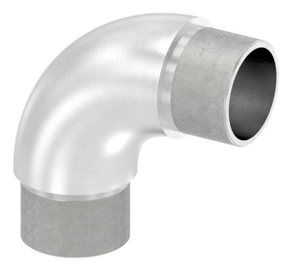 Rohrbogen 90° rund, für Rundrohr Ø 33,7x2,0 mm V2A