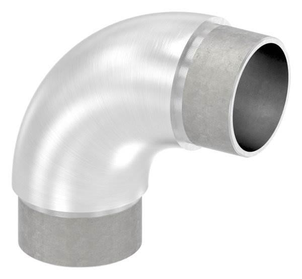 Rohrbogen 90° rund, für Rundrohr Ø 42,4x2,0 mm V4A