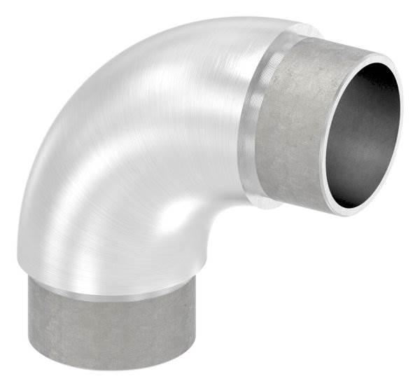 Rohrbogen 90° rund, für Rundrohr Ø 42,4x2,5 mm V2A