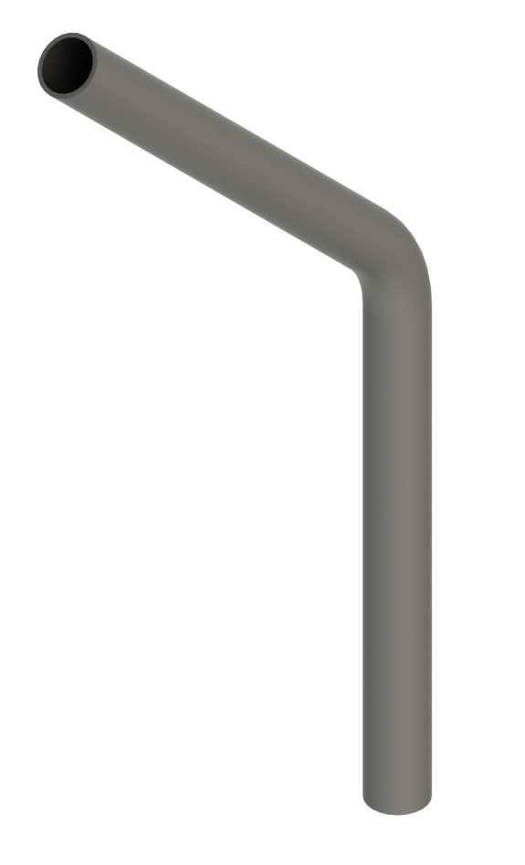 Stahl Rohrbogen | 45° | 26,9x2,0 mm | Stahl S235JR, roh