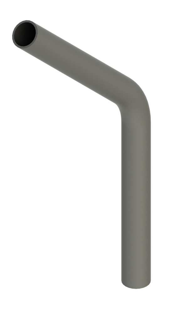 Stahl Rohrbogen | 45° | 33,7x2,5 mm | Stahl S235JR, roh