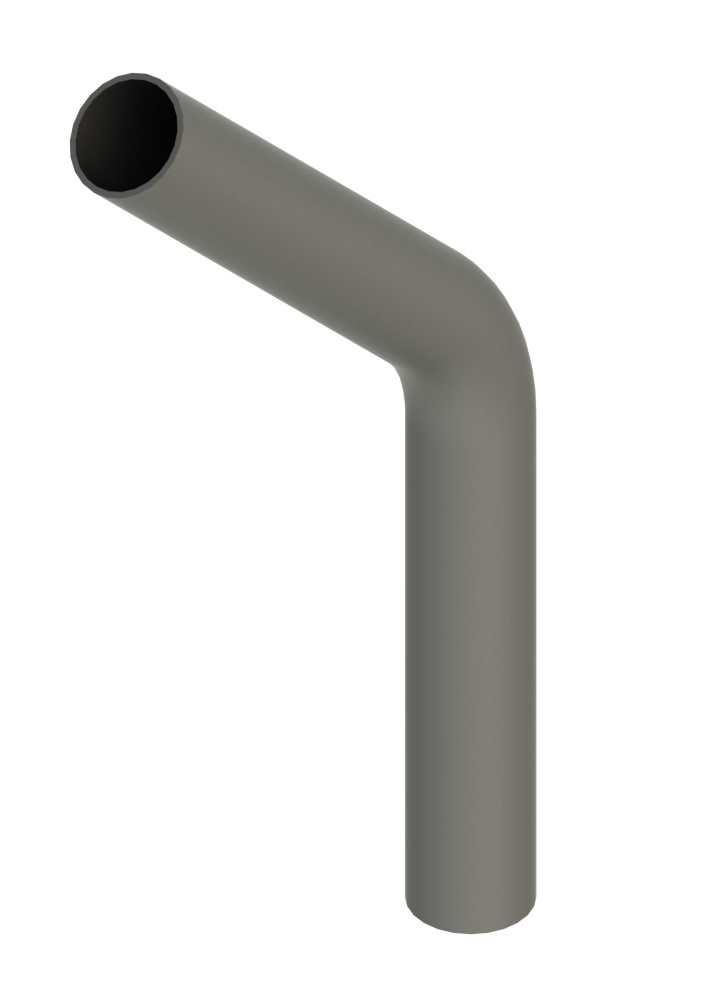 Stahl Rohrbogen | 45° | 48,3x2,5 mm | Stahl S235JR, roh