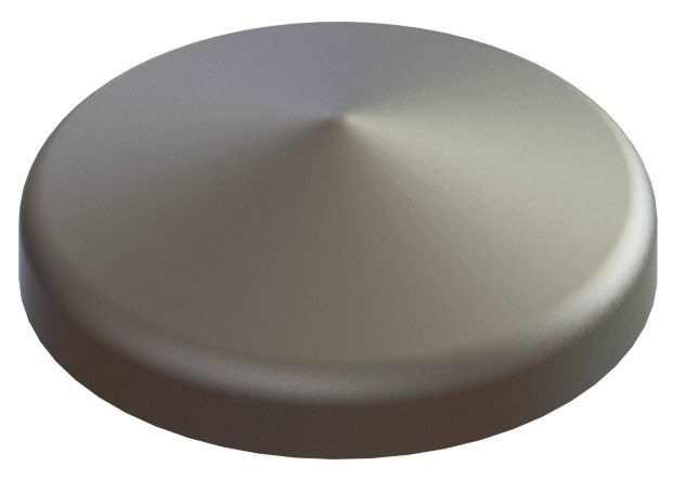 Abdeckkappe | für Rundrohr | Ø 88,9 mm | Stahl S235JR, roh