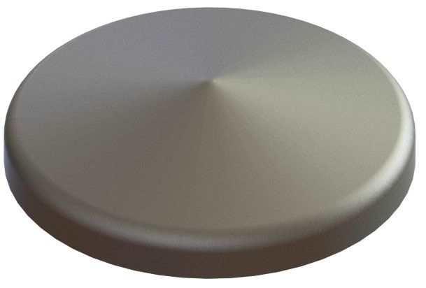 Abdeckkappe | für Rundrohr | Ø 114,3 mm | Stahl S235JR, roh