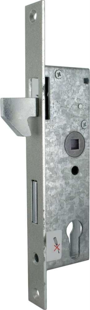 Rohrprofilschloss mit Hakenfalle   Dornmaß: 40 mm   Stahl (verzinkt) S235JR
