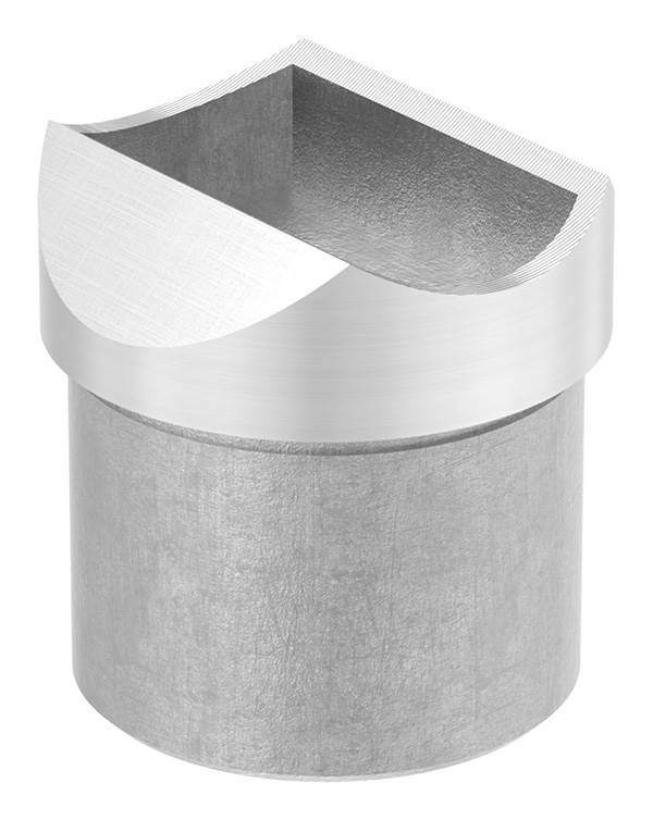 Rohrsattel zum Kleben für Rundrohr Ø 42,4x2,0 mm V2A