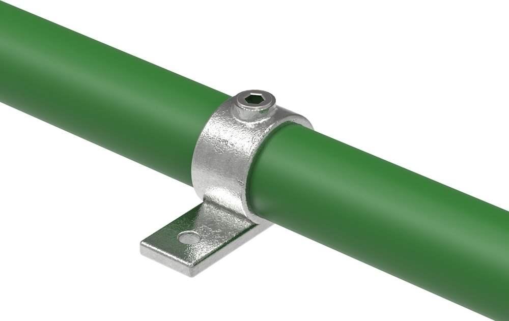 Rohrverbinder | Befestigungsring mit Flansch 1 Bohrung | 199 | 26,9 mm - 48,3 mm | 3/4 - 1 1/2 | Temperguss u. Elektrogalvanisiert