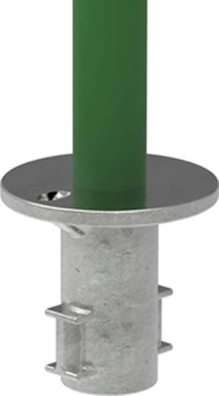 Rohrverbinder | Bodenhülse | 134 | 33,7 mm - 48,3 mm | 1 - 1 1/2 | Temperguss u. Elektrogalvanisiert