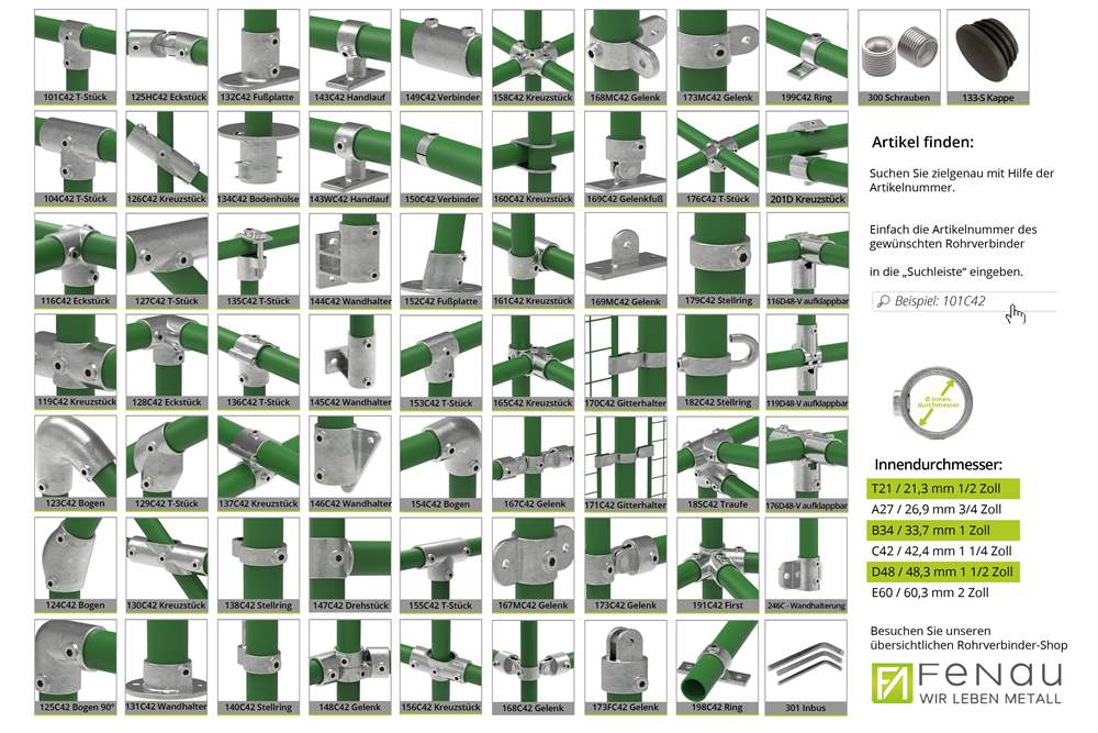 Rohrverbinder | Bogen 90° | 125 | 21,3 mm - 60,3 mm | 1/2 - 2 | Temperguss u. Elektrogalvanisiert