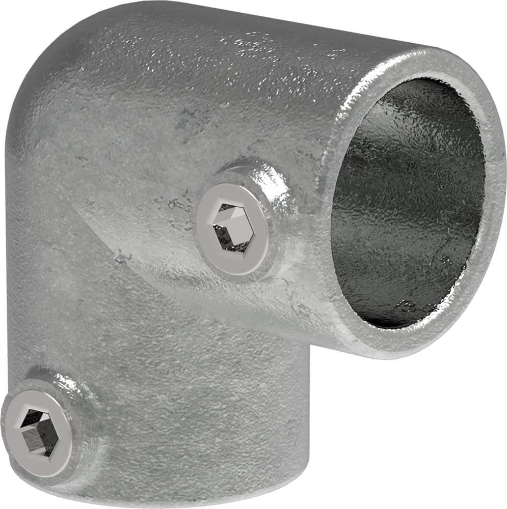 Rohrverbinder | Bogen 90° | 125B34 | 33,7 mm | 1 | Temperguss u. Elektrogalvanisiert