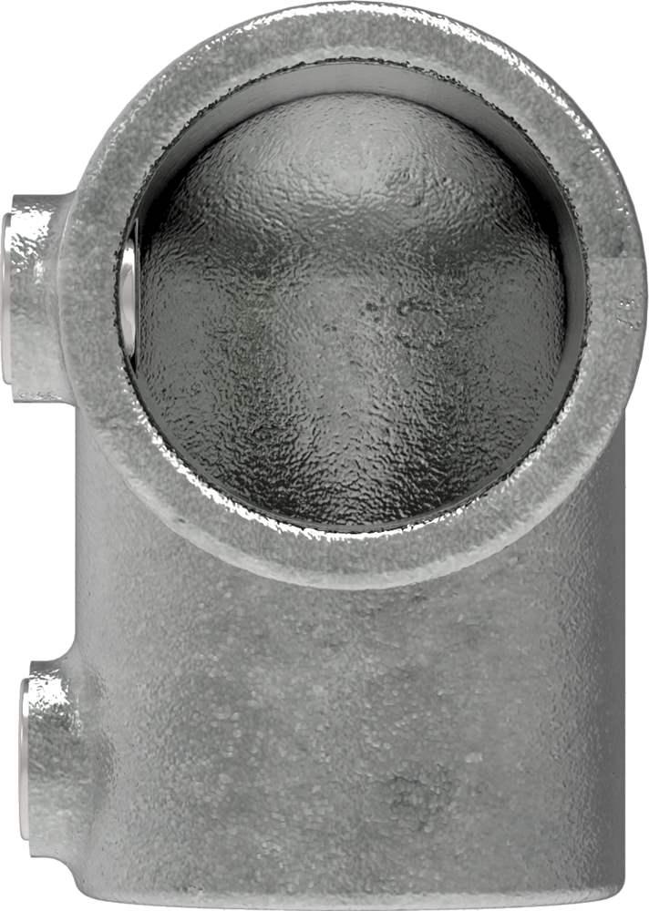 Rohrverbinder | Bogen 90° | 125C42 | 42,4 mm | 1 1/4 | Temperguss u. Elektrogalvanisiert