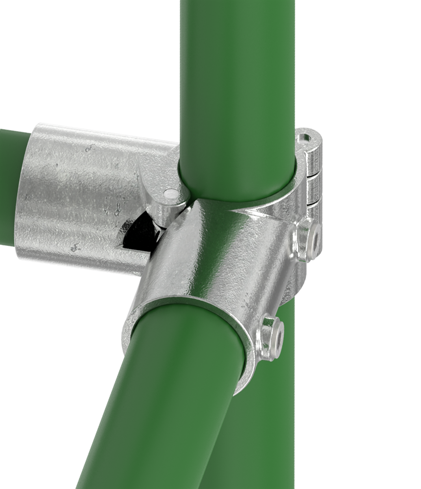 Rohrverbinder | Eckstück aufklappbar  | 116D48-V | 48,3 mm | 1 1/2 | Temperguss u. Elektrogalvanisiert