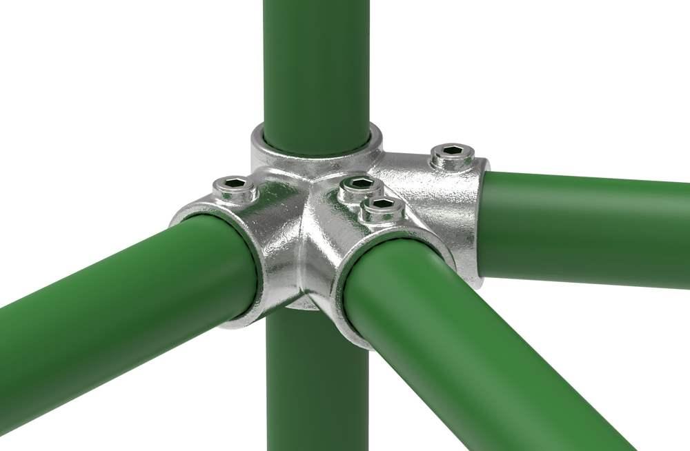Rohrverbinder | Firststück 27,5° | 191D48 | 48,3 mm | 1 1/2 | Temperguss u. Elektrogalvanisiert