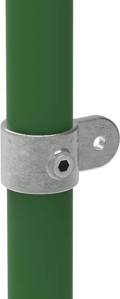 Rohrverbinder   Gelenkauge einfach   173MD48   48,3 mm   1 1/2   Temperguss u. Elektrogalvanisiert