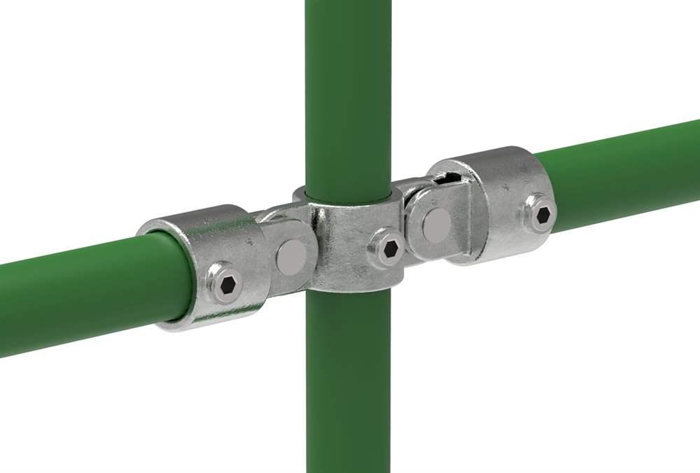 Rohrverbinder | Gelenkstück doppelt 180° | 167A27 | 26,9 mm | 3/4 | Temperguss u. Elektrogalvanisiert