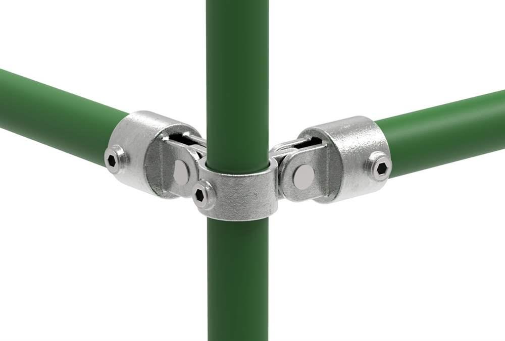 Rohrverbinder | Gelenkstück doppelt 90° | 168A27 | 26,9 mm | 3/4 | Temperguss u. Elektrogalvanisiert