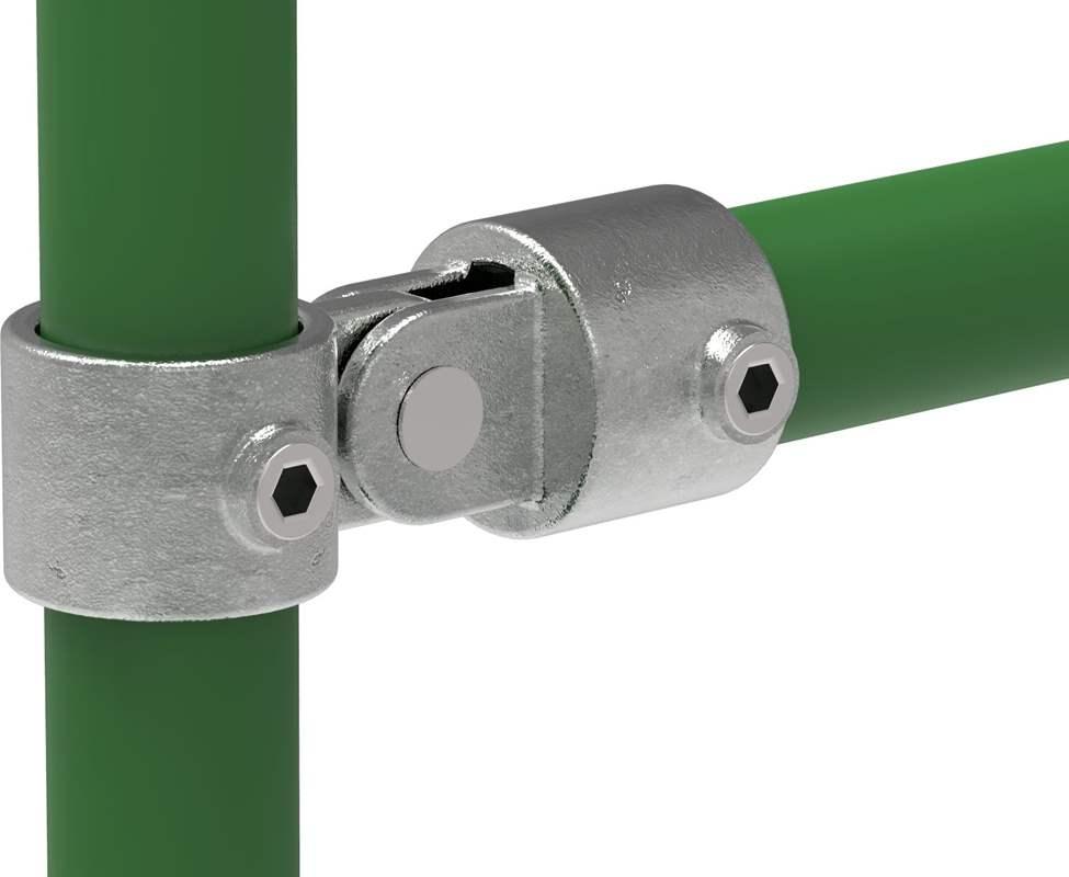 Rohrverbinder | Gelenkstück einfach | 173A27 | 26,9 mm | 3/4 | Temperguss u. Elektrogalvanisiert