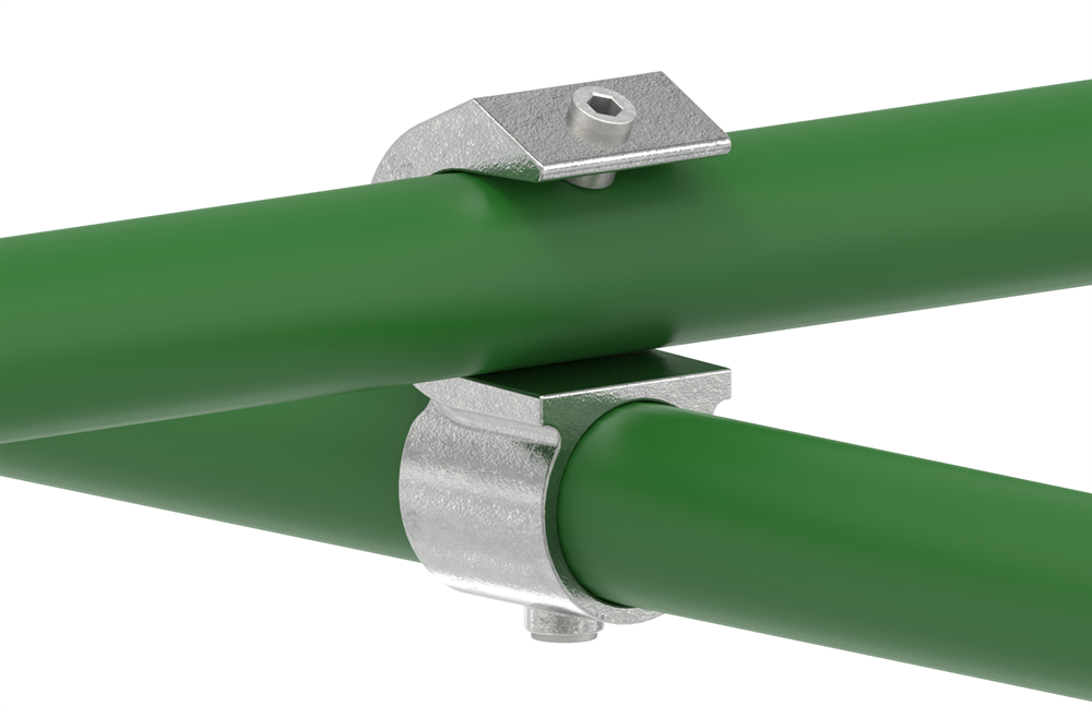 Rohrverbinder | Kreuzstück | 201D48 | 48,3 mm | 1 1/2 | Temperguss u. Elektrogalvanisiert
