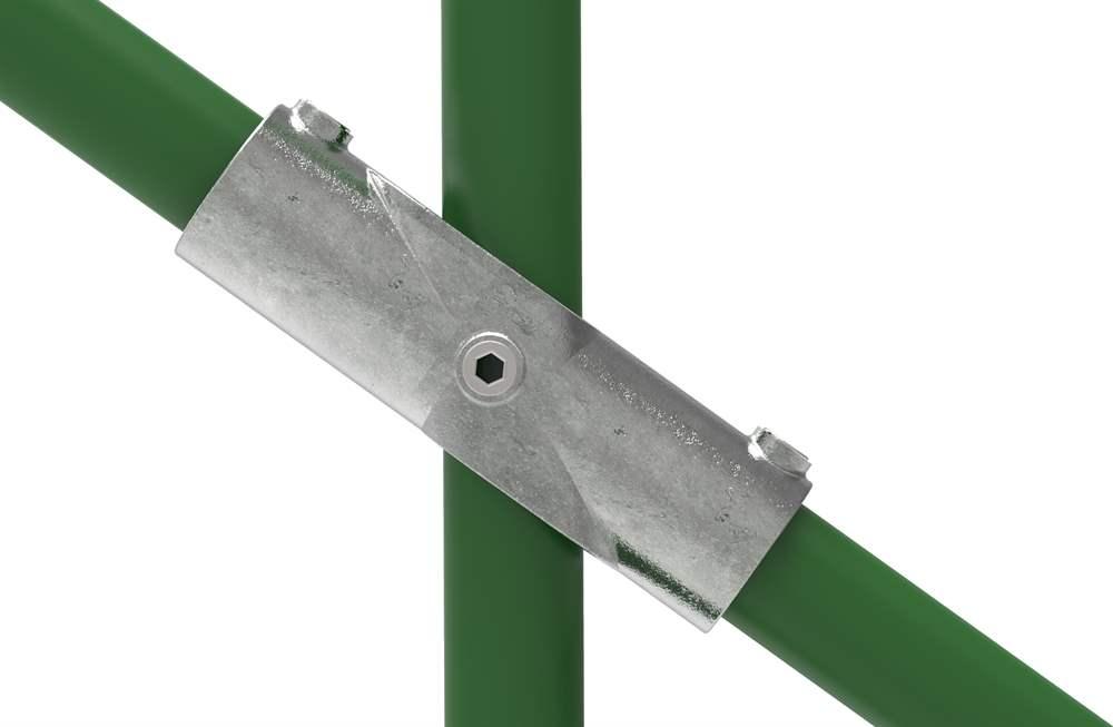 Rohrverbinder | Kreuzstück 30-45° | 126D48 | 48,3 mm | 1 1/2 | Temperguss u. Elektrogalvanisiert