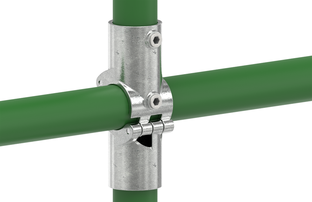 Rohrverbinder | Kreuzstück aufklappbar | 119D48-V | 48,3 mm | 1 1/2 | Temperguss u. Elektrogalvanisiert
