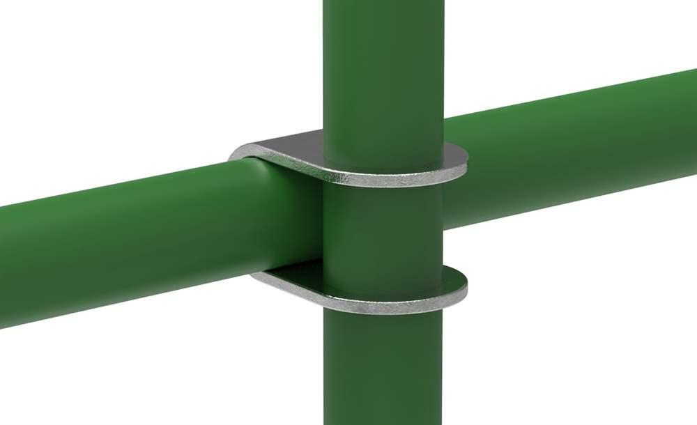 Rohrverbinder | Kreuzstück offen | 160 | 26,9 mm - 60,3 mm | 3/4 - 2 | Temperguss u. Elektrogalvanisiert