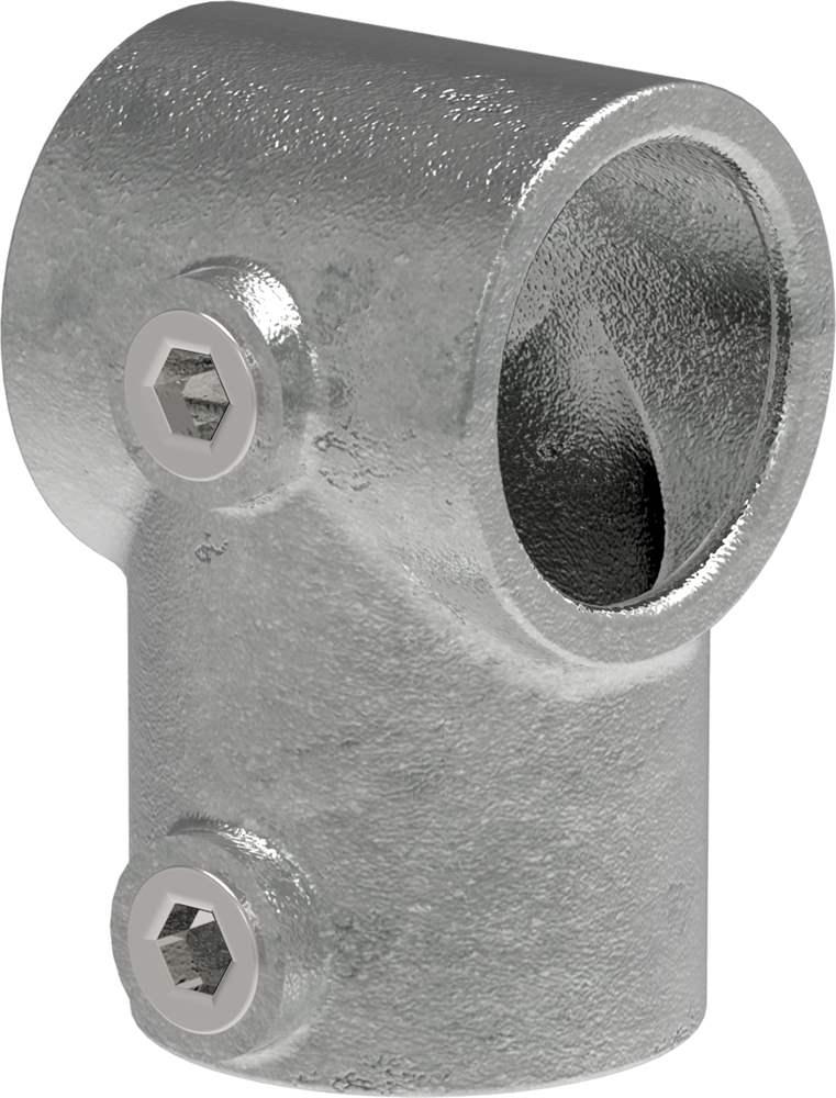 Rohrverbinder   T-Stück kurz   101B34   33,7 mm   1   Temperguss u. Elektrogalvanisiert