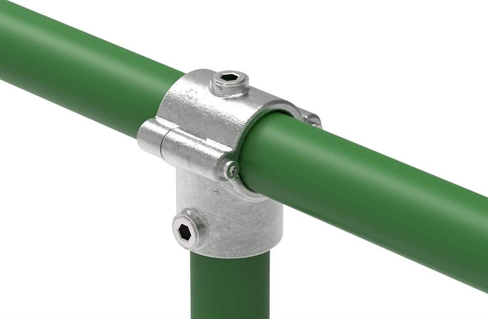 Rohrverbinder | T-Stück mit Bolzen aufklappbar | 136B34 | 33,7 mm | 1 | Temperguss u. Elektrogalvanisiert