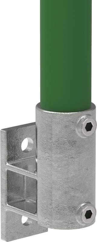 Rohrverbinder | Wandhalter Platte vertikal | 144 | 33,7 mm - 48,3 mm | 1 - 1 1/2 | Temperguss u. Elektrogalvanisiert