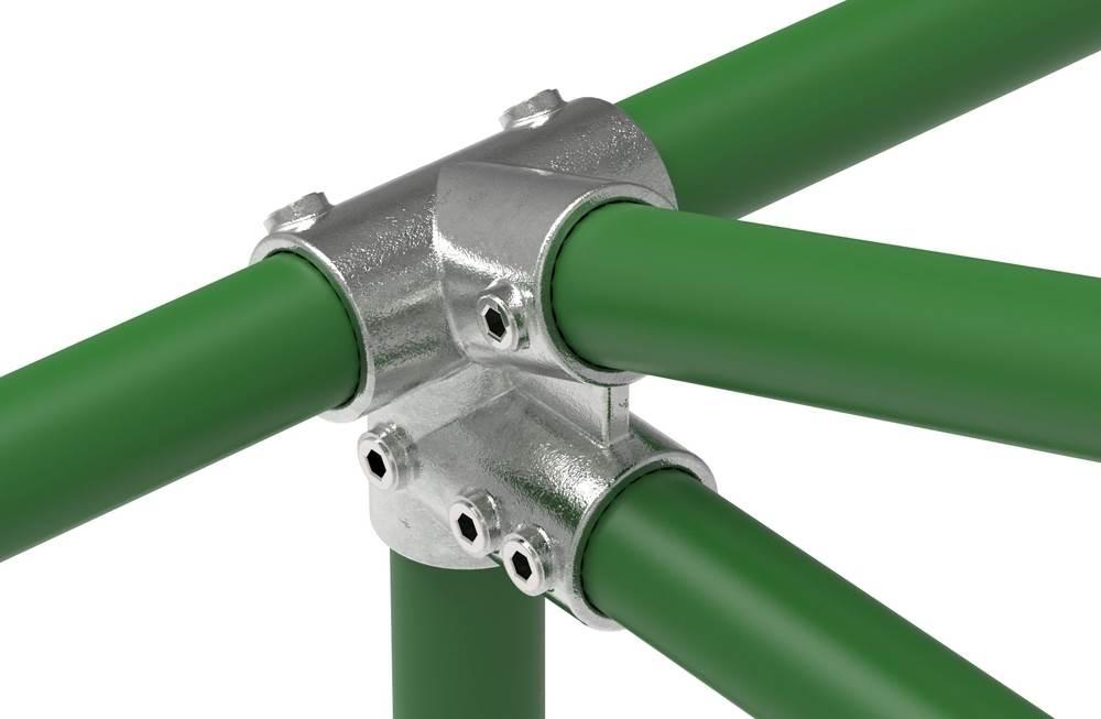 Rohrverbinder | Traufenstück 27,5° | 185D48 | 48,3 mm | 1 1/2 | Temperguss u. Elektrogalvanisiert