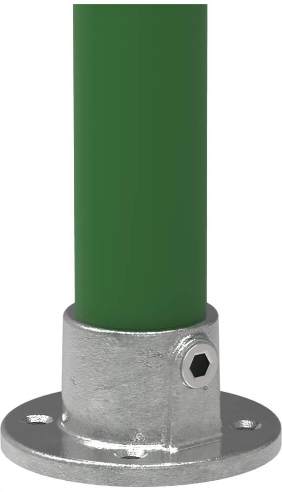Rohrverbinder | Wandbefestigung rund | 131 | 21,3 mm - 60,3 mm | 1/2 - 2 | Temperguss u. Elektrogalvanisiert