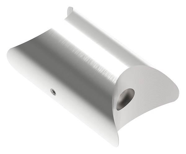 Rohrverbindungsstück verstellbar für Rundrohr Ø 48,3 mm V2A