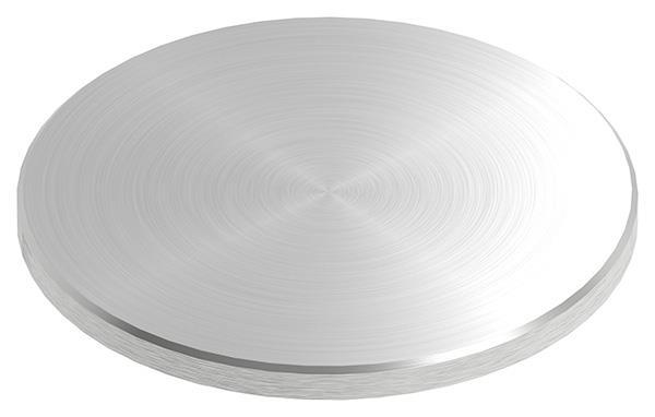 Ronde Ø 100x6 mm mit Längsschliff + Fase V2A