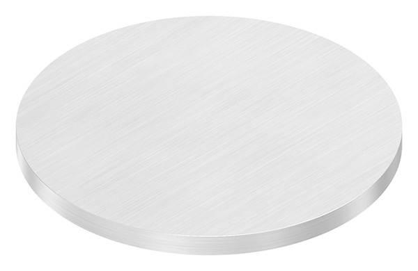 Ronde   Maße: Ø 100x6 mm   mit Längsschliff   V4A