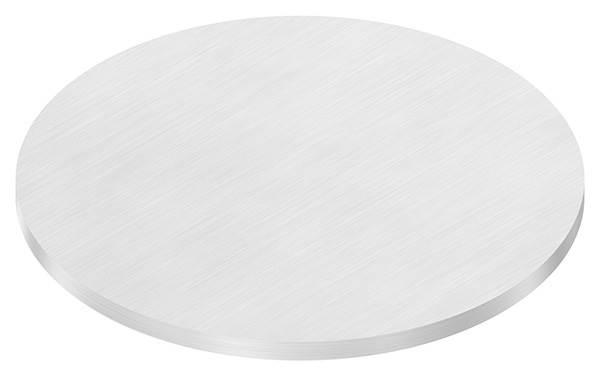 Ronde   Maße: Ø 150x6 mm   mit Längsschliff   V2A