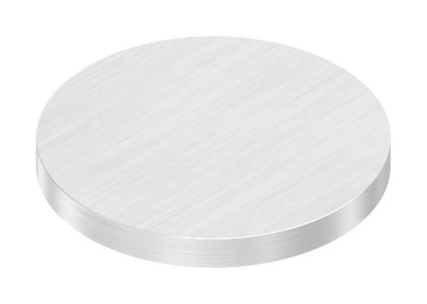 Ronde   Maße: Ø 40x4 mm   mit Längsschliff   V2A