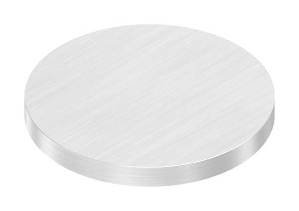 Ronde   Maße: Ø 42x4 mm   mit Längsschliff   V2A