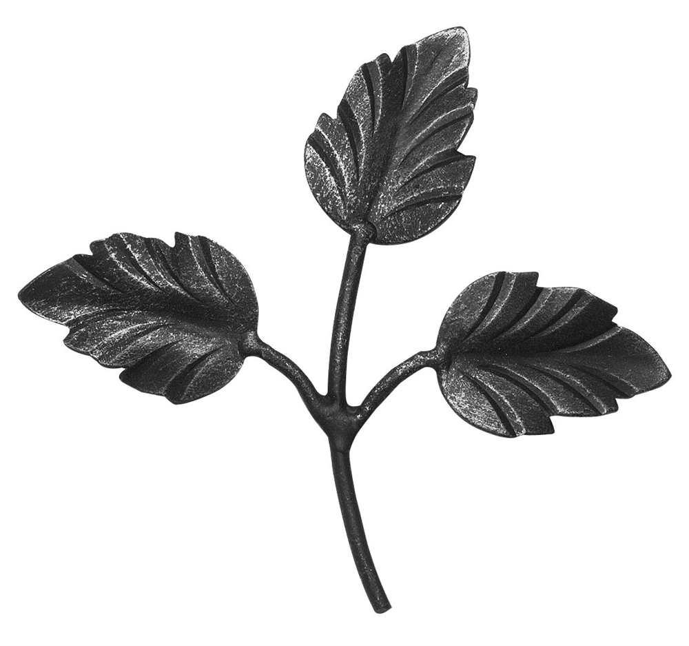 Zierteil | Rosenblatt | Maße: 140x140 mm | Stahl S235JR, roh