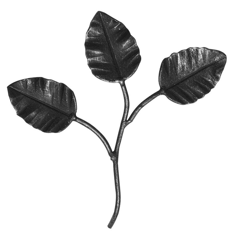 Zierteil | Rosenblatt | Maße: 105x95 mm | Stahl S235JR, roh