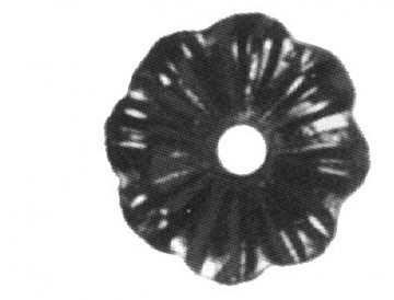 Rosette / Zierteil    Ø 65x3 mm mit Lochung   Stahl (Roh) S235JR