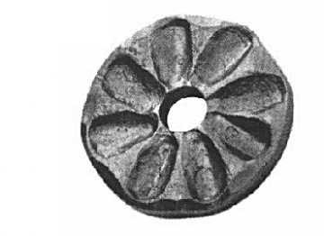 Rosette / Zierteil    Ø 65x8 mm mit Loch Ø 15 mm   Stahl (Roh) S235JR