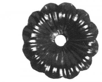 Rosette / Zierteil    Ø 95x3 mm mit Lochung   Stahl (Roh) S235JR