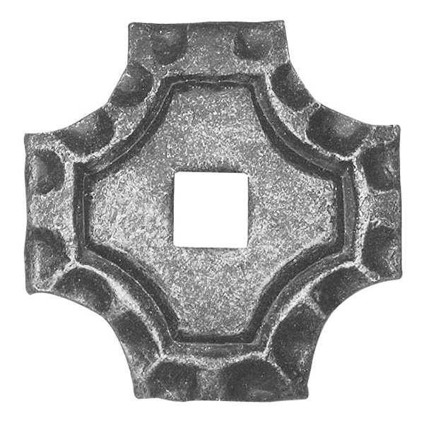 Rosette / Zierteil    quadratisch 65x65x5 mm   Stahl (Roh) S235JR