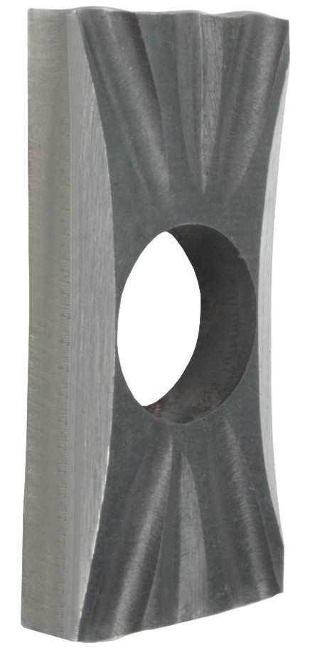 Drückerrosette | Maße: 35x76x10 mm | Stahl S235JR, roh