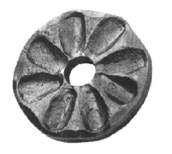 Rosette / Zierteil |  Ø 65x8 mm mit Loch Ø 15 mm | Stahl (Roh) S235JR