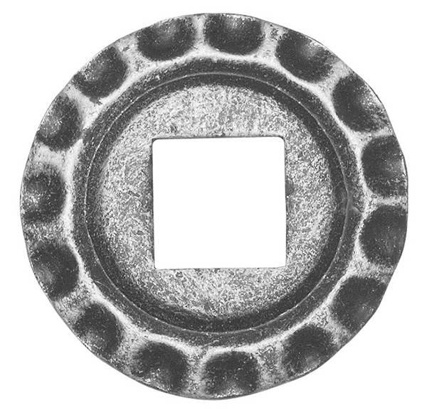 Rosette / Zierteil |  Ø 75x5 mm | Stahl (Roh) S235JR