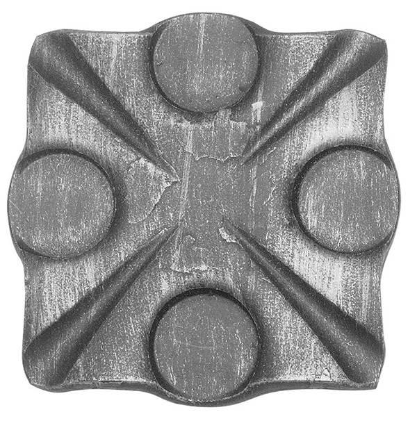 Rosette / Zierteil | 90x90x8 mm | Stahl (Roh) S235JR