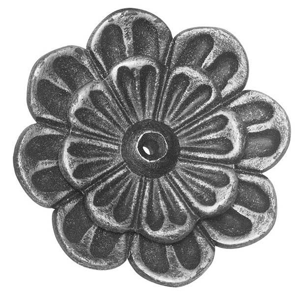 Rosette / Zierteil | Doppelrosette Ø 95x4 mm | Stahl (Roh) S235JR