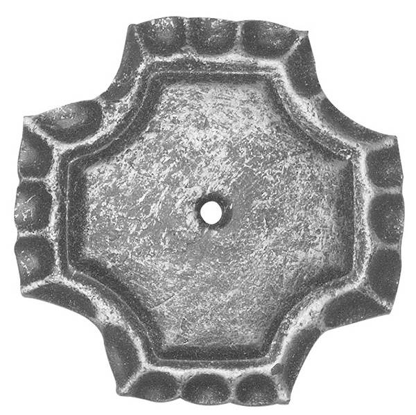 Rosette / Zierteil | ■ quadratisch 75x75x5 mm Stahl roh | Stahl (Roh) S235JR