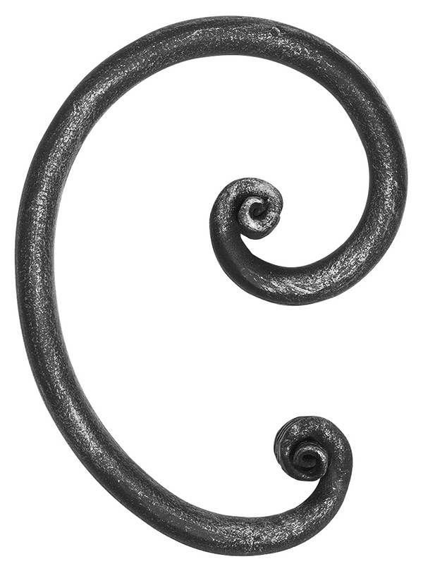 Rundeisenbarock   Maße: 110x155 mm   Stahl S235JR, roh